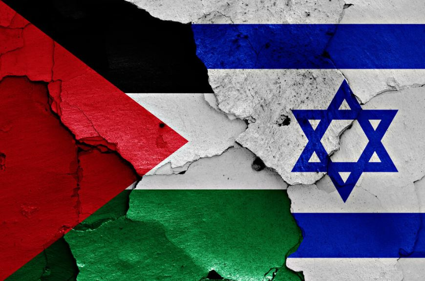 bomb blast in Palestine by Israel