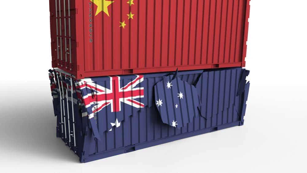 china Australia trade relation rumbling