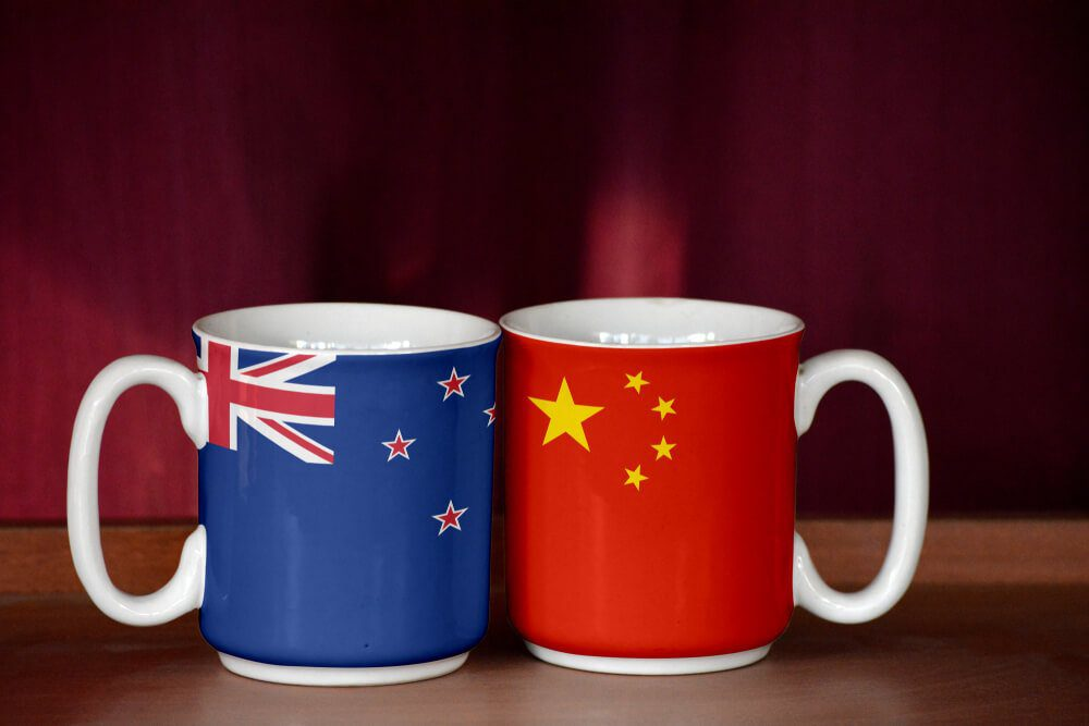 China has strong relationships with New Zealand
