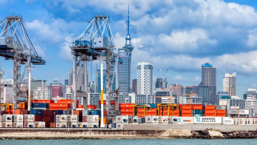 Commercial dock in Auckland New Zealand
