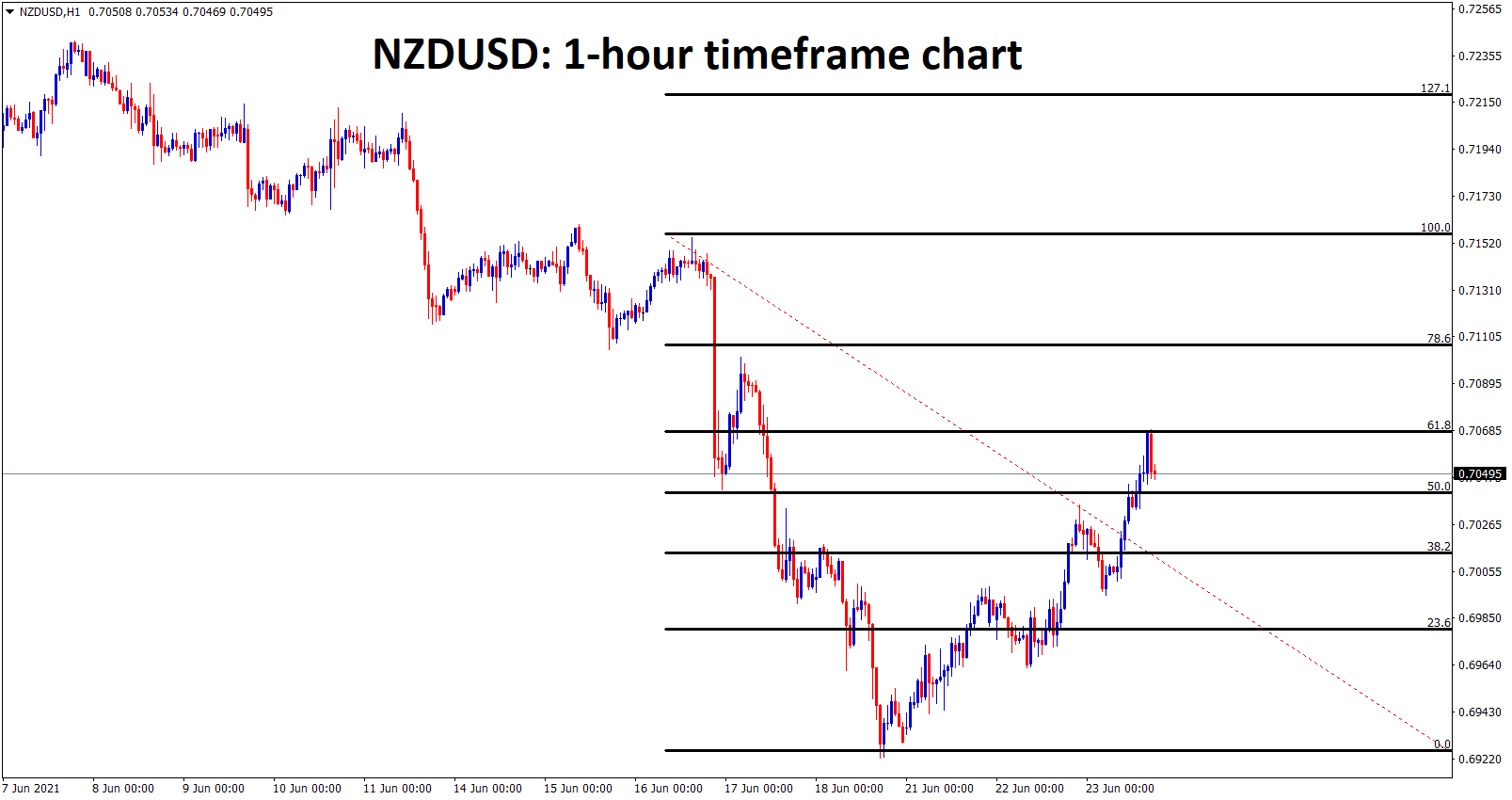 NZDUSD made a 61 correction from the last high