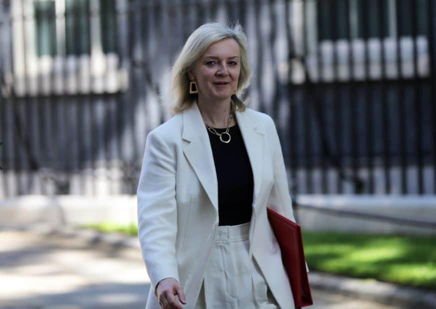 UK trade secretary Liz Truss