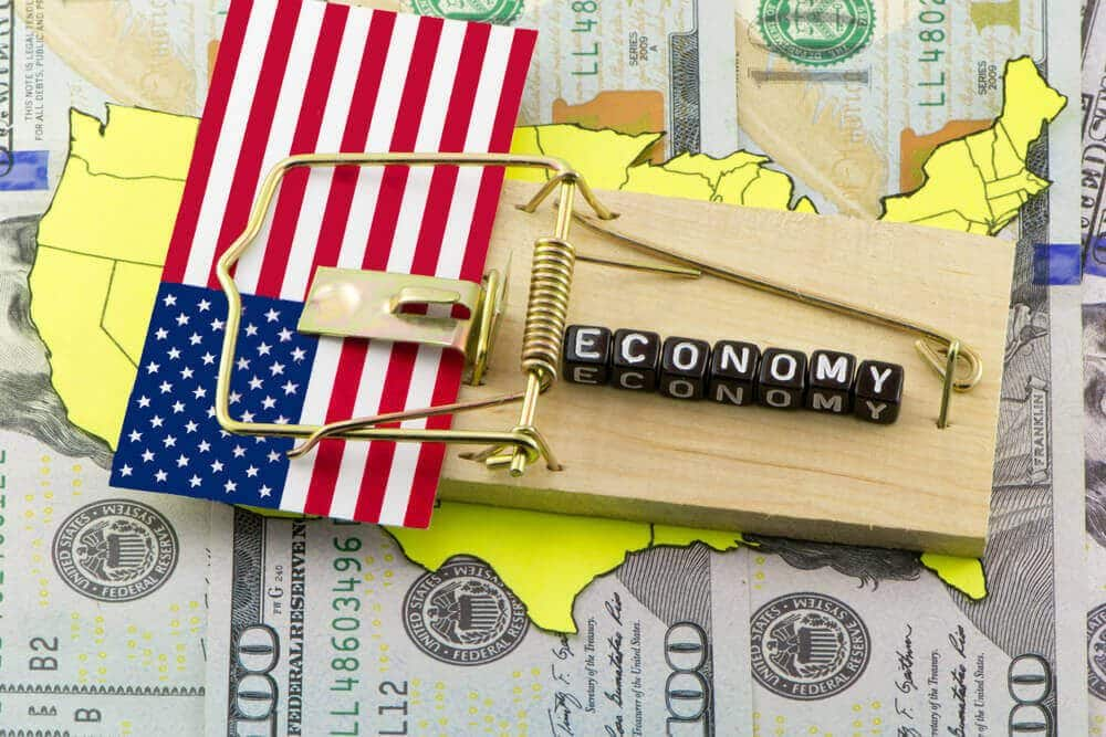 US Second quarter GDP data shows 6.5 versus 8.4 expected
