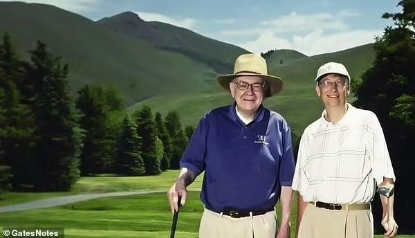 Warren buffet and Bill gates golf play
