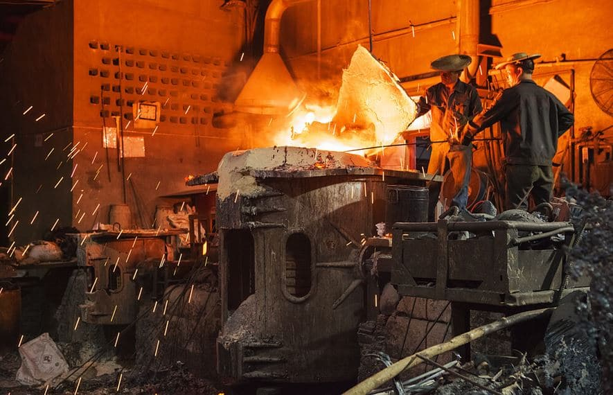 Australia A huge supply of Iron ore now goes for sell off by China to reduce steel production
