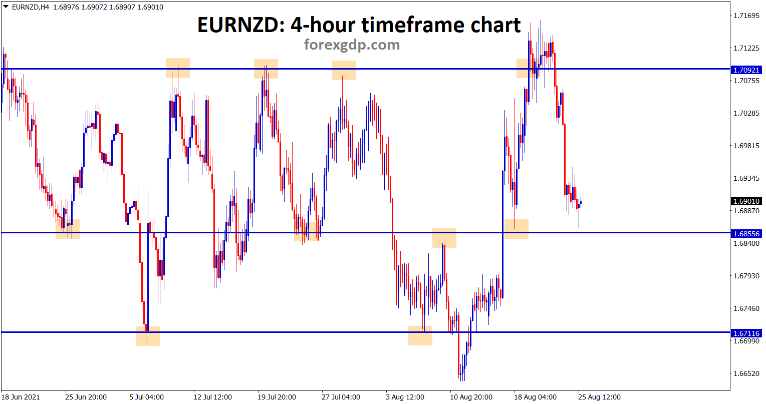 EURNZD bounces back from the minor support area currently its ranging between the SR levels