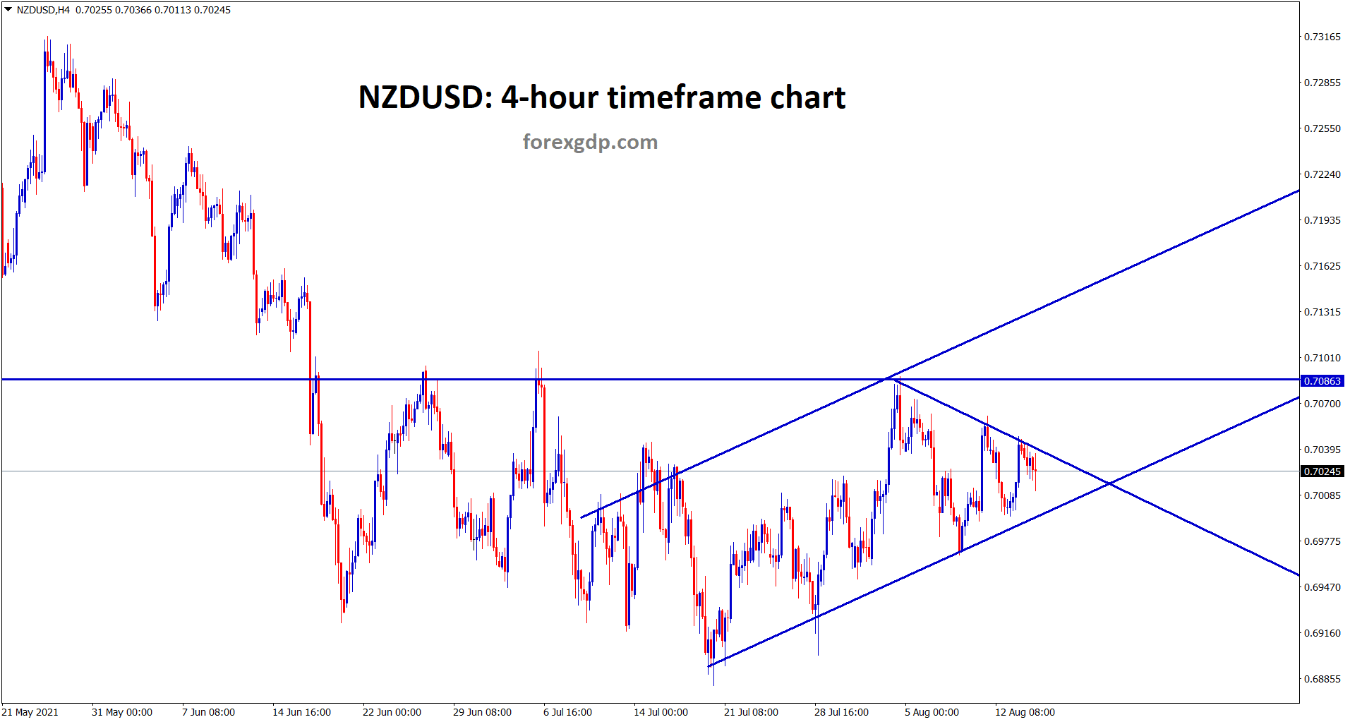 NZDUSD fallen from the resistance zone now going to break the minor symmetrical triangle pattern