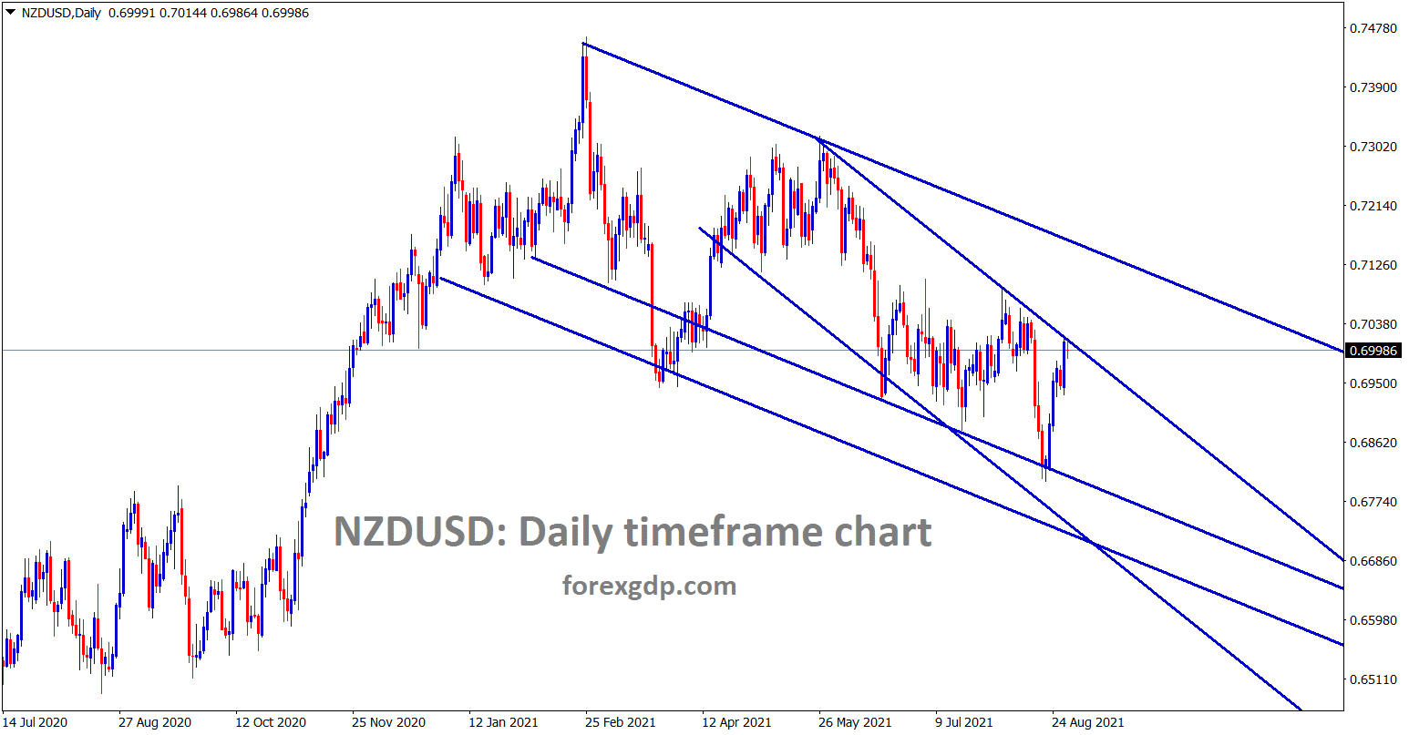 NZDUSD hits the lower high of the minor descending channel wait for reversal or breakout