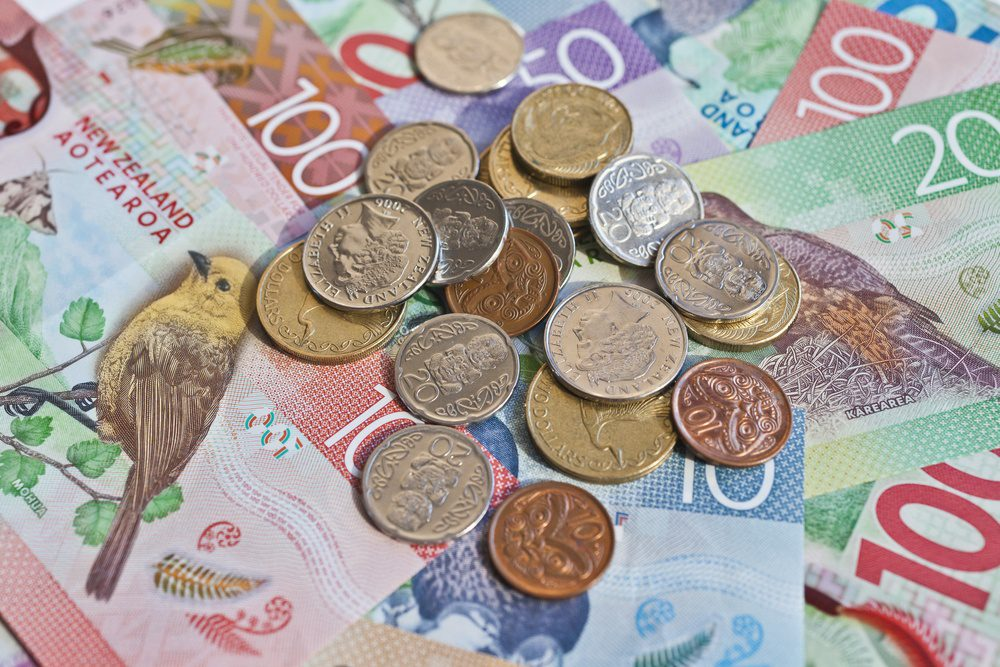 New Zealand Dollars gain by 1 from low on the last day as the Unemployment rate reduced to 4 from 4.6