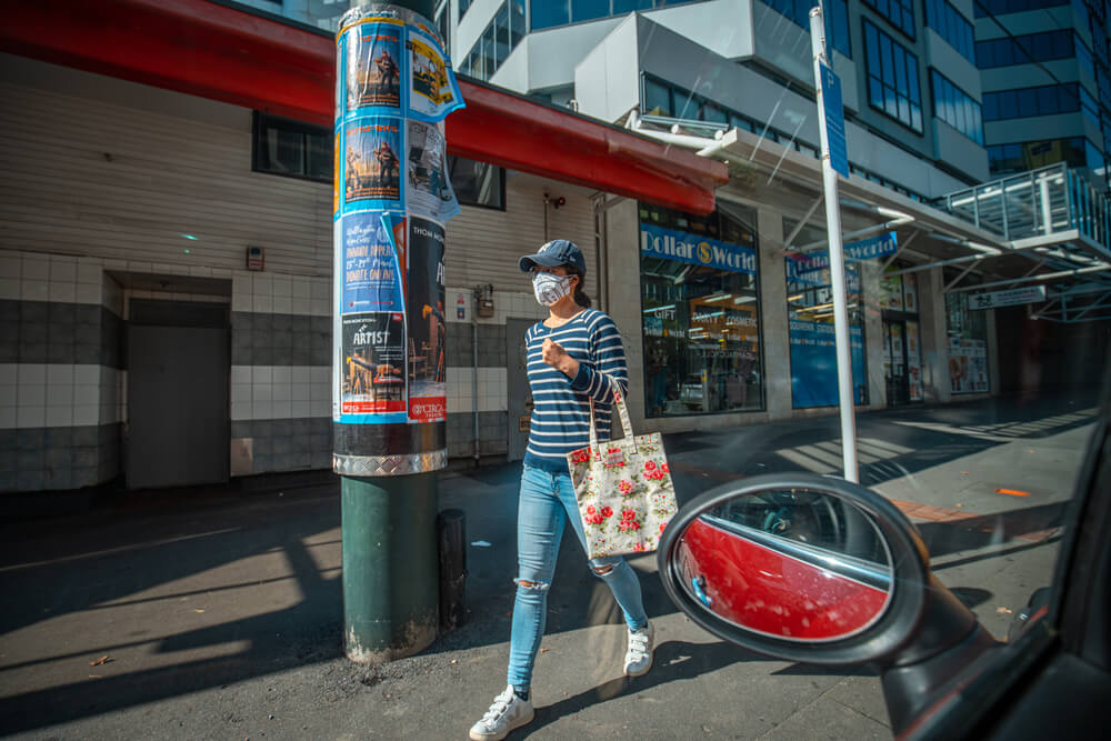 New Zealand The status of Wellington City street and shop after COVID 19 lockdown.