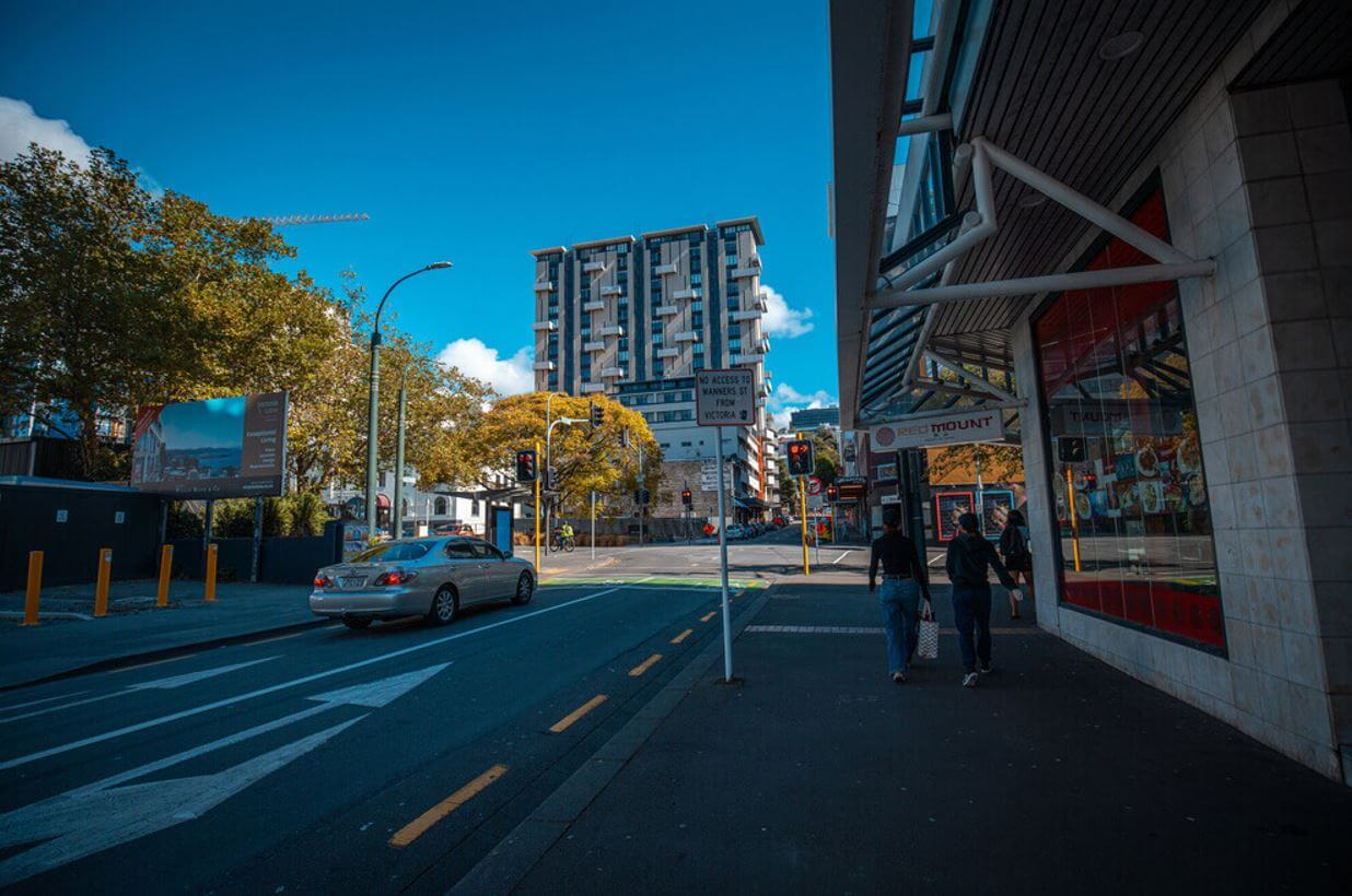 New Zealand The status of Wellington City street and shop after COVID 19 lockdown