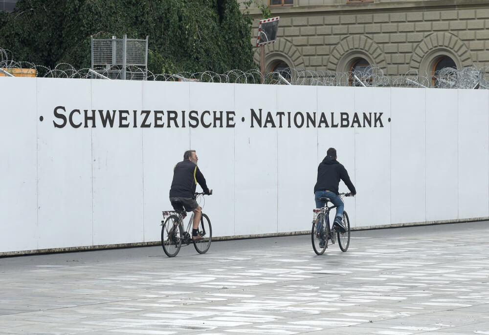 Swiss national bank has received more deposits but not evident to see