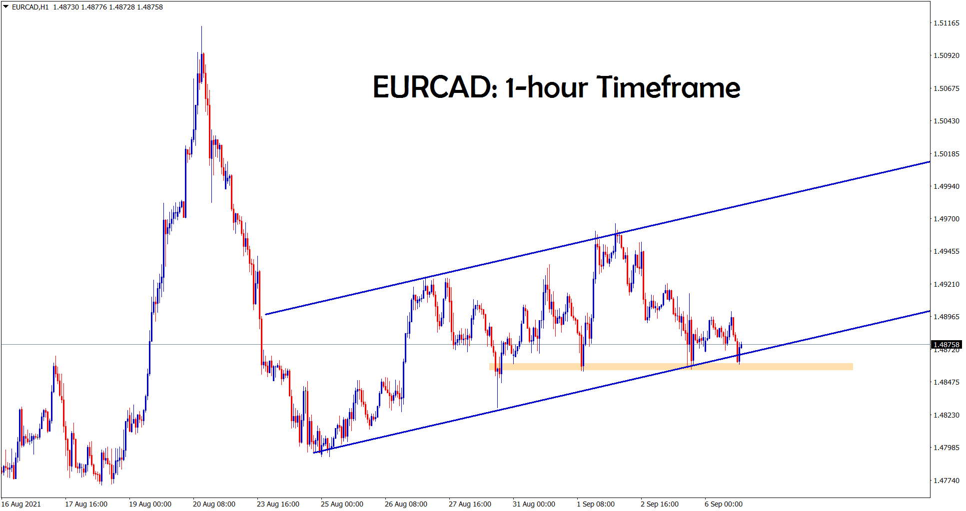 EURCAD is moving between the SR levels and moving in a channel range