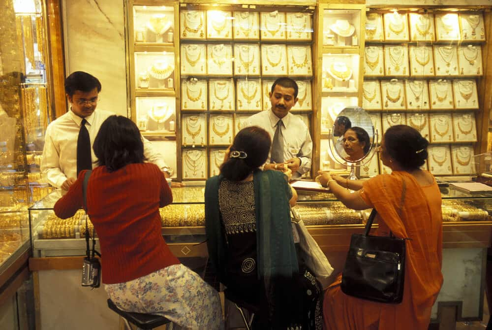 Gold Market in the old town in the city of Dubai in the Arab Emirates