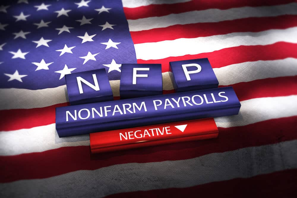 US NFP data showed 235K Jobs created versus 750K expected reading on Friday