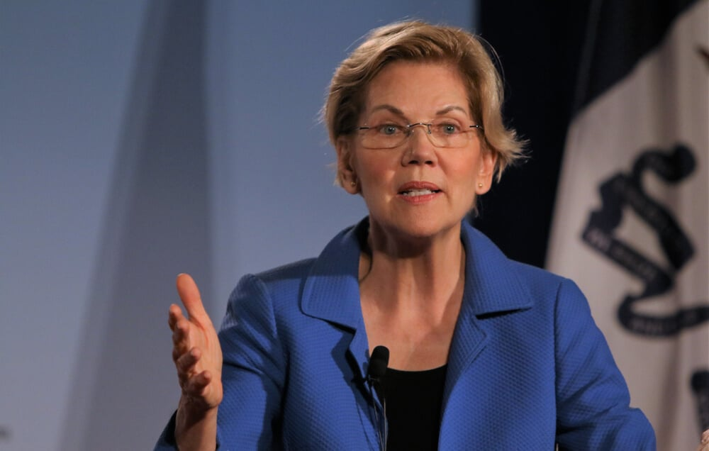 US Democratic Senator Elizabeth Warren expressed concerns over the actions of Fed Chairman Jerome Powell